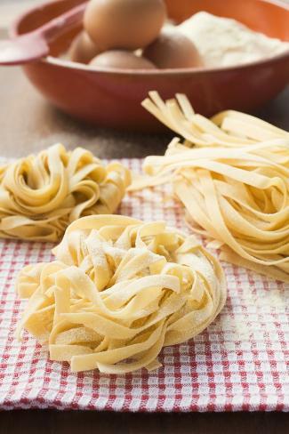 Three Ribbon Pasta Nests Photographic Print