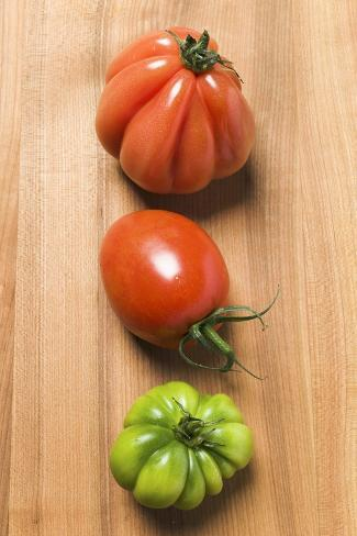 Three Tomatoes Photographic Print