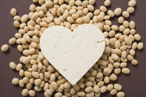 Tofu Heart on Soya Beans Photographic Print