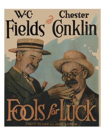 Fools for Luck Stretched Canvas Print