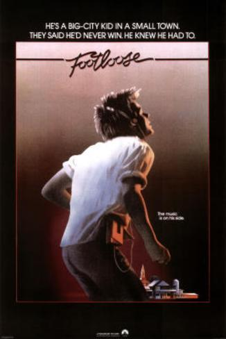 Footloose Movie (Kevin Bacon with Earphones) Poster Print Poster