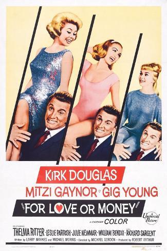 For Love or Money, 1963 Art Print