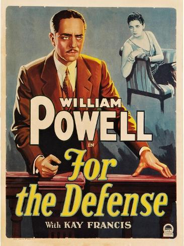 For the Defense, William Powell, Kay Francis, 1930 Konstprint