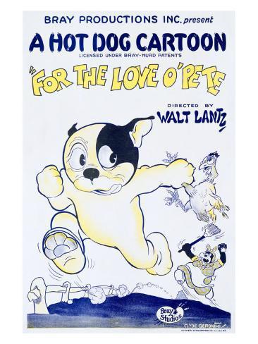 For the Love O'Pete, a Hot Dog Cartoon Giclee Print