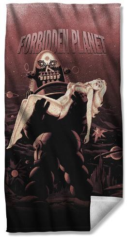 Forbidden Planet - Poster Beach Towel Beach Towel