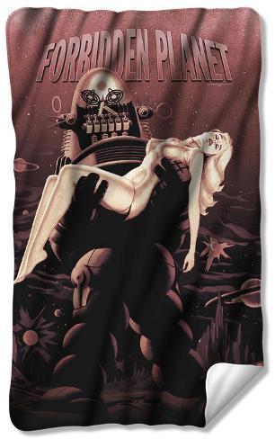 Forbidden Planet - Poster Fleece Blanket Fleece Blanket