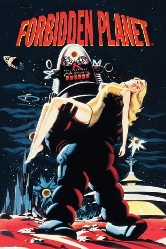 Forbidden Planet - Robby Carryin Poster