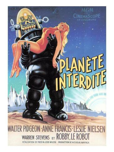 Forbidden Planet, Robby the Robot Holding Anne Francis, 1956 Photo