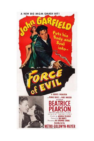 Force of Evil, John Garfield, Beatrice Pearson, 1948 ジクレープリント
