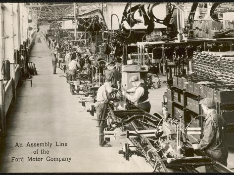 Ford Motor Company the Assembly Line at the Rouge Plant, Dearborn, Illinois Photographic Print