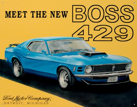 Ford Mustang Boss Tin Sign