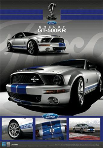 Ford - Shelby Mustang GT-500KR 3 Dimensional Poster