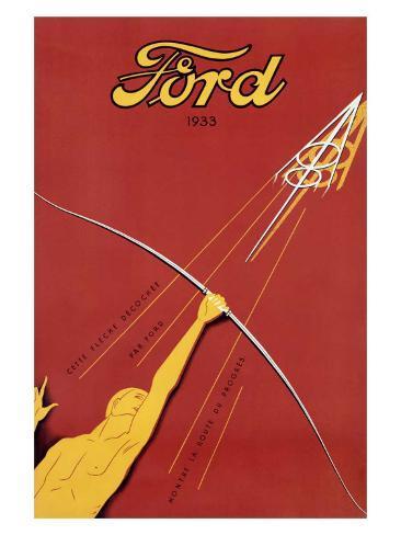 Ford V-8, c.1933 Giclee Print