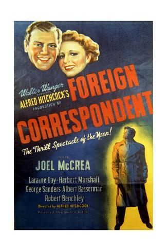 Foreign Correspondent - Movie Poster Reproduction Art Print