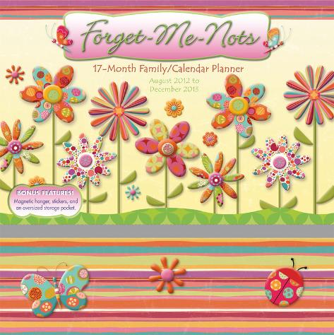 Forget Me Nots   - 2013 17-Month Wall Planner Calendars