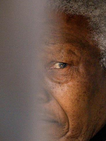 Former South African President Nelson Mandela Photographic Print