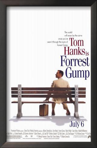 Forrest Gump: O Contador de Histórias Impressão artística emoldurada