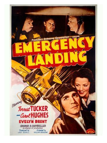 Forrest Tucker Emergency Landing Poster Stampa giclée
