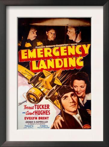 Forrest Tucker Emergency Landing Poster Framed Art Print