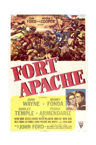 Fort Apache - Movie Poster Reproduction Art Print