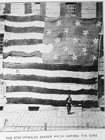 Fort Mchenry Battle Flag at Boston Navy Yard Photographic Print