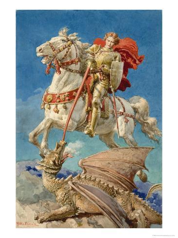 Saint George and the Dragon Giclee Print