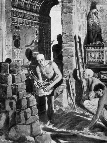 The Final Interior Decoration and Sealing of Tutankhamun's Tomb, Egypt, 1325 BC Giclee Print