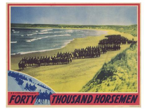 Forty Thousand Horsemen, 1941 Art Print