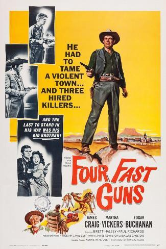 Four Fast Guns Konstprint