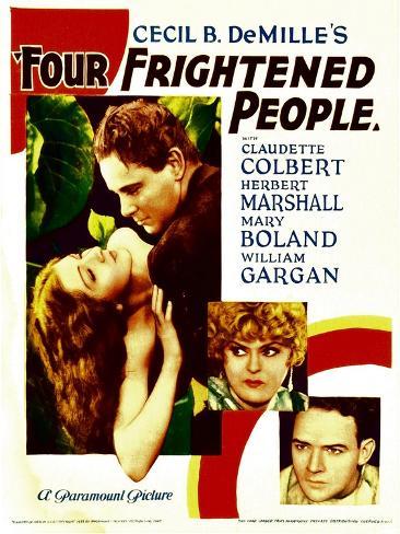 Four Frightened People, Claudette Colbert, Herbert Marshall, 1934 Photo