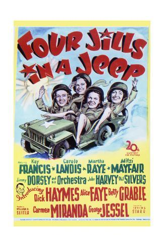 Four Jills in a Jeep - Movie Poster Reproduction Stampa artistica