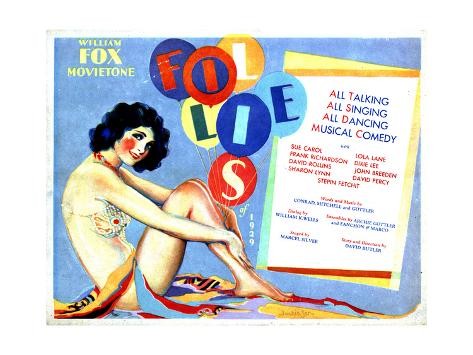 Fox Movietone Follies of 1929, 1929 Giclee Print