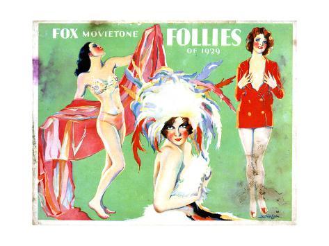 Fox Movietone Follies of 1929, 1929 Giclee Print