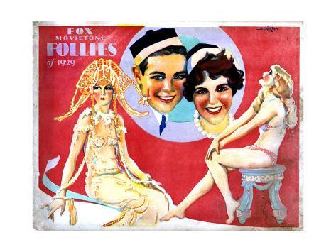 Fox Movietone Follies of 1929, Center, John Breeden, Sharon Lynn, 1929 Giclee Print