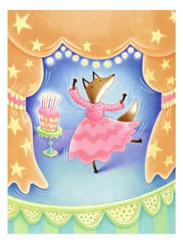 Foxy Birthday Dance Wall Decal