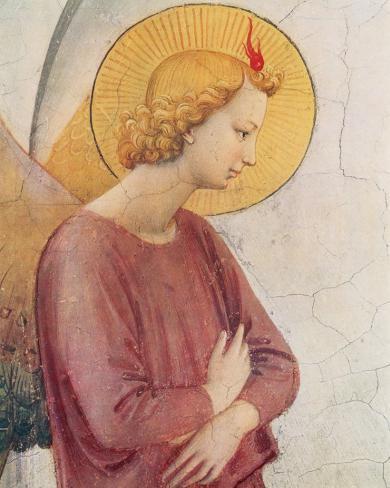 L'Angelo Annunziante, c.1387-1455 (detail) Reproducción de lámina sobre lienzo