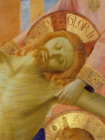 Santa Trinita Altarpiece, Detail of the Head of the Dead Christ, c.1434 Lámina giclée