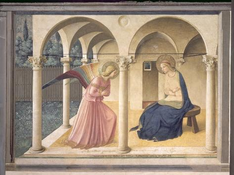 The Annunciation, circa 1438-45 Giclee Print