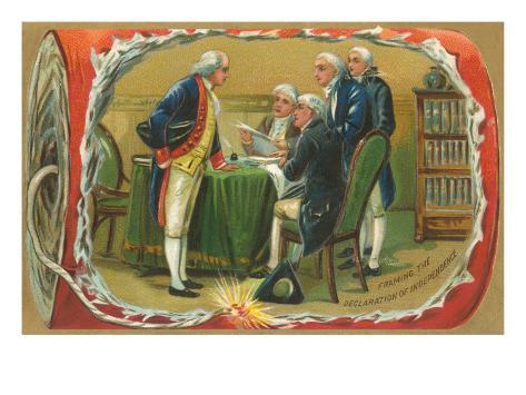 Framing of the Declaration of Independence Art Print