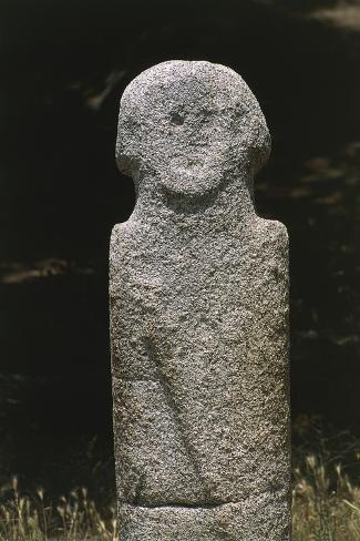 France, Corsica, Filitosa Prehistoric Archaeological Site, Anthropomorphic Menhir Statue Giclee Print