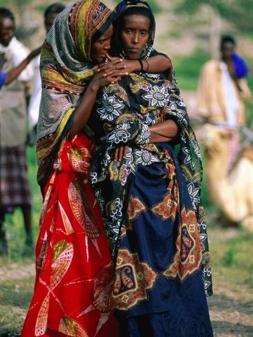 Somalian Women, Who Have Fled Their Homeland, at Wedding, Hol Hol, Djibouti Photographic Print