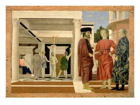 The Flagellation of Christ, C.1463-4 (Tempera on Panel) Giclee Print