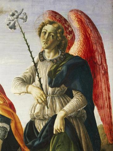 Archangel, Detail from Three Archangels and Tobias, Ca 1470 Lámina giclée