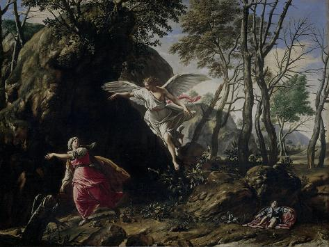 Hagar and Ishmael in the Desert Art Print
