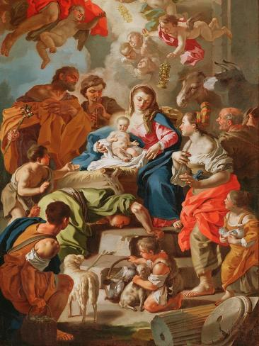 The Adoration of the Shepherds Lámina giclée