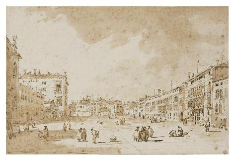 View of Campo San Polo, Venice, ca. 1790 Lámina