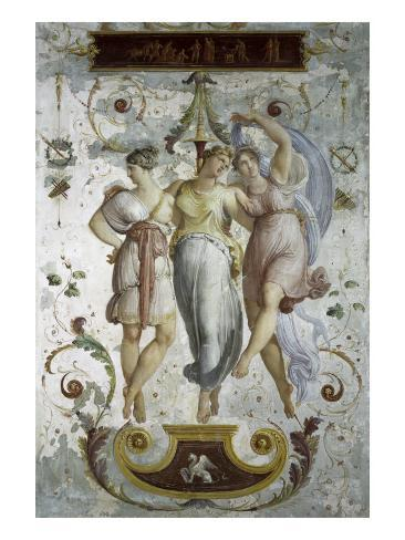 Decorative Panel with Dancers Giclee Print