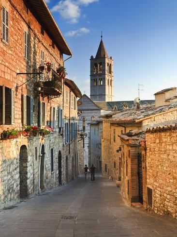 Italy, Umbria, Perugia District, Assisi, Basilica of Santa Chiara Photographic Print
