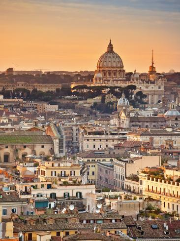 View from the Top of Vittoriano, Rome, Lazio, Italy, Europe Photographic Print