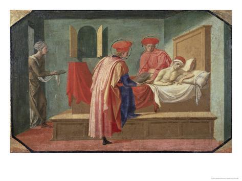 St. Cosmas and St. Damian Caring For a Patient, 15th century Giclee Print